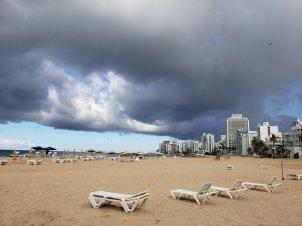 Rainy Condado Beach