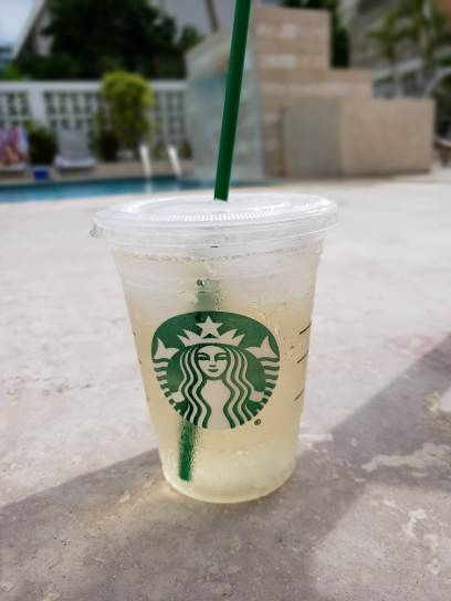 Snuck some rum to the pool. Thanks, Starbucks cup.