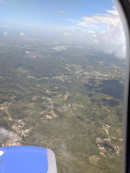 Landing in Puerto Rico