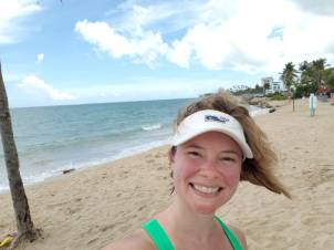 Running time! I made it all the way to Isla Verde!