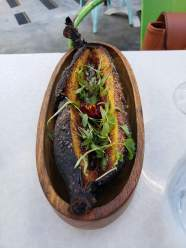 Fig-filled plantain