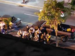 We wanted to believe these were mariachis serenading us but I think it may have been for the new restaurant downstairs.