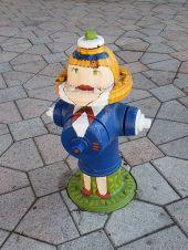 Artsy fire hydrant